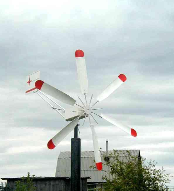 Верхняя часть ветряка