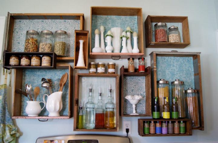Самодельный полки для кухни