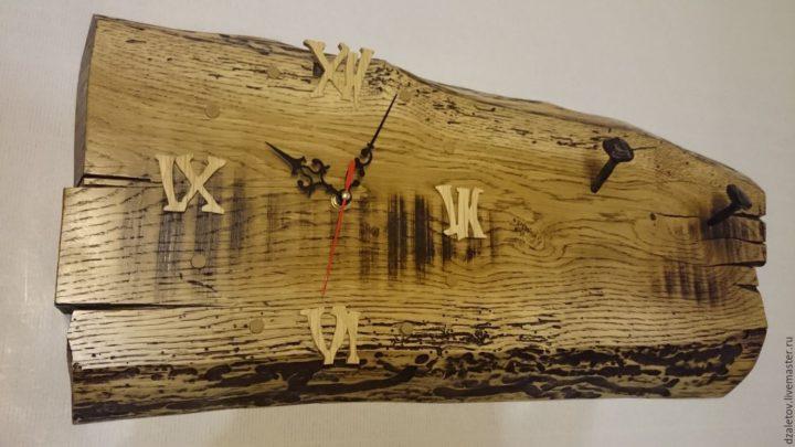 Часы из доски