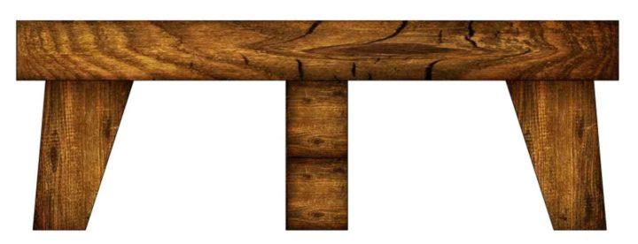 Простая деревянная подставка для цветов