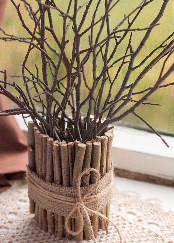 Поделки из веток деревьев своими руками для детей фото