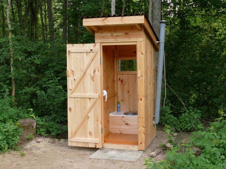 Туалет дачный деревянный своими руками