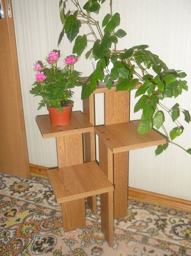 Подставки под цветы напольные деревянные своими руками фото