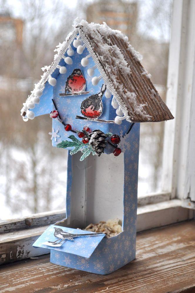 Как оформить кормушку для птиц своими руками фото 25